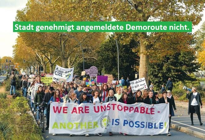 Stadt Heidelberg genehmigt Streikroute von Fridays for Future nicht