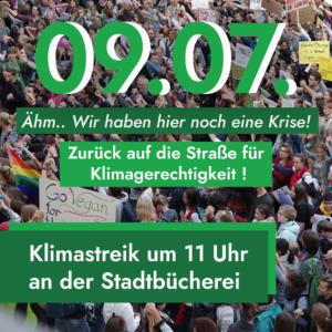 WE ARE BACK : Schulstreik am 09.07.!🔥